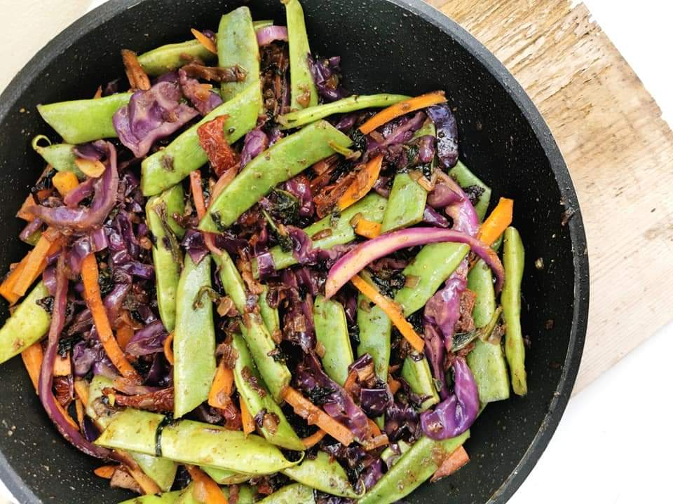 vegan wok vegetables