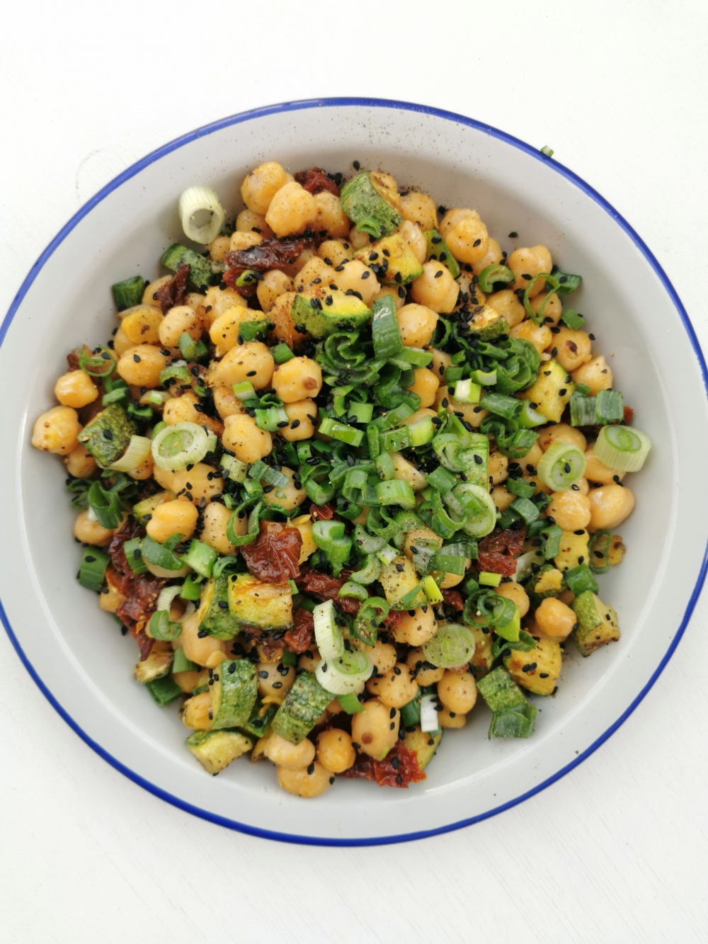 vegan chickpeas salad